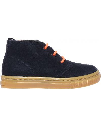 Ботинки замшевые синие Jacadi Paris