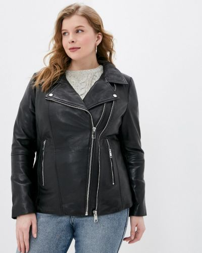 Черная кожаная куртка Le Monique