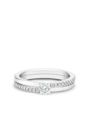 Серебряное кольцо с бриллиантом круглое De Beers