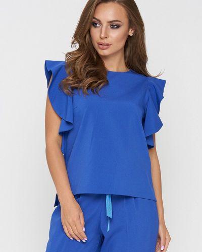 Блузка с рюшами синяя Sellin