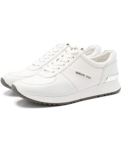 Кожаные кроссовки с подкладкой белый Michael Michael Kors