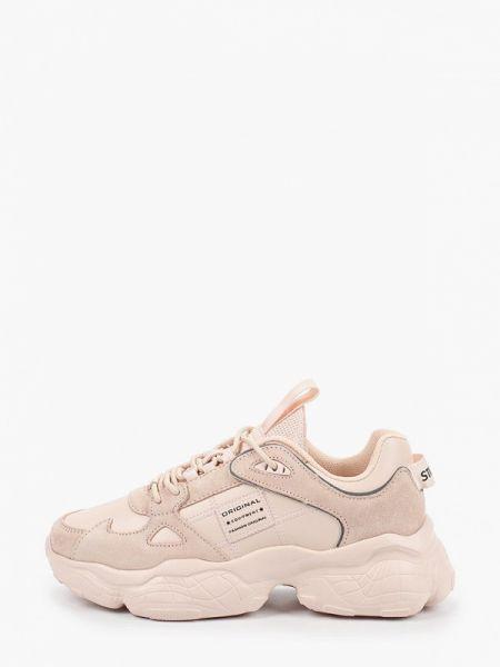 Кроссовки замшевые розовый Strobbs
