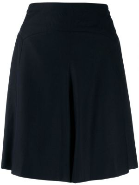 Шерстяные черные шорты свободного кроя Chanel Pre-owned