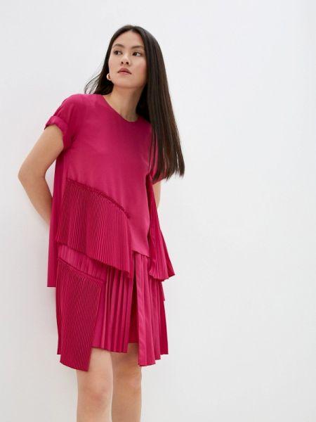 Вечернее платье розовое весеннее N21
