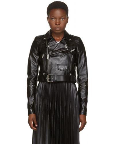 Czarny długa kurtka z mankietami z długimi rękawami prążkowany Givenchy
