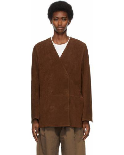 Коричневая длинная куртка Toteme