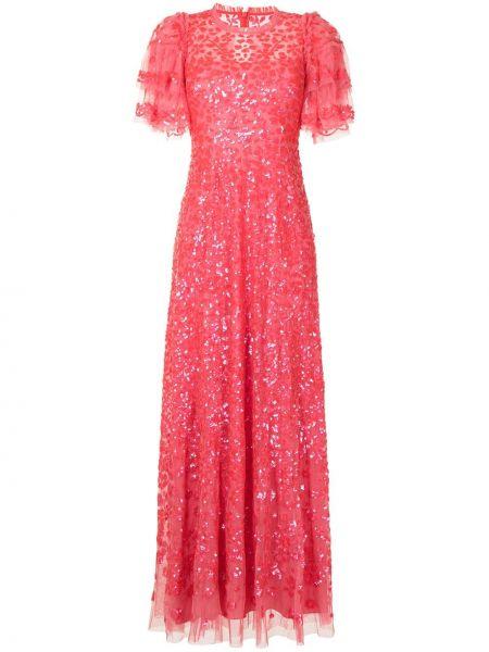 Розовое платье с пайетками Needle & Thread