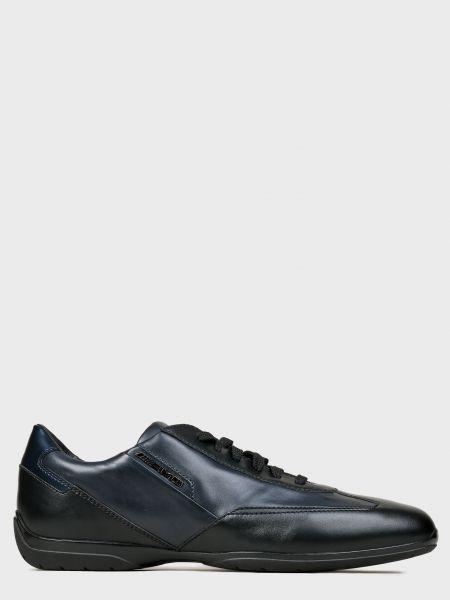 Кожаные кроссовки - синие Santoni