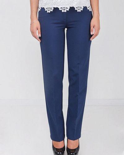 Классические брюки весенний синие Zubrytskaya