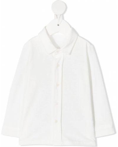 Хлопковая белая классическая рубашка с воротником Il Gufo