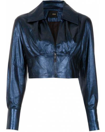 Синяя короткая куртка Andrea Bogosian