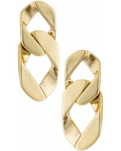 Złote kolczyki sztyfty Miranda Frye