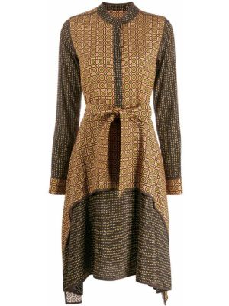 Шелковое платье миди - коричневое Steffen Schraut