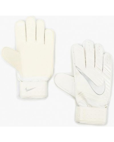 Белые перчатки Nike