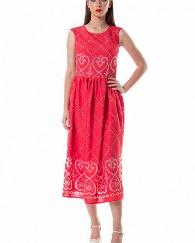 Прямое красное платье Evercode