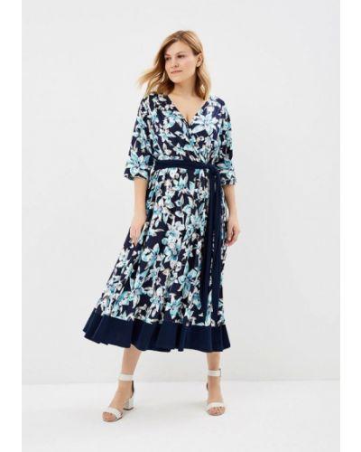 Платье весеннее синее Артесса