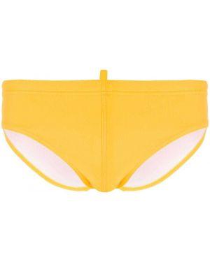 Kąpielówki z logo żółty Dsquared2