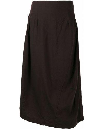 Черная асимметричная плиссированная юбка Rundholz Black Label