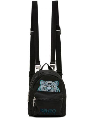 Нейлоновый черный рюкзак с карманами Kenzo