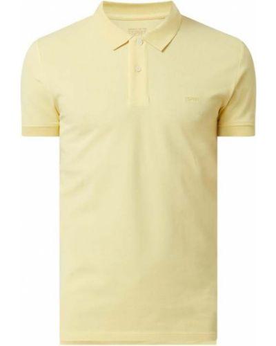 T-shirt bawełniana - żółta Esprit