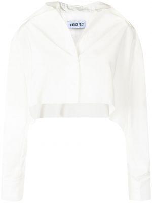 Biała koszula z długimi rękawami Maticevski