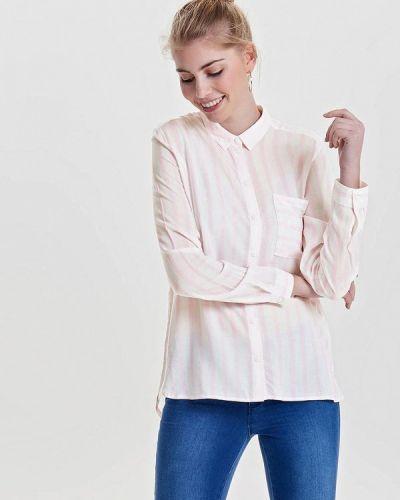 Розовая блузка с длинным рукавом Only