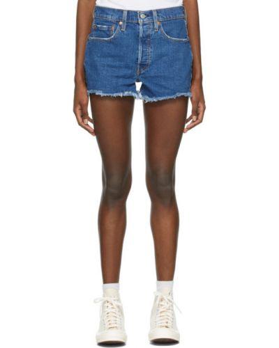 Кожаные джинсовые шорты с карманами с манжетами Levi's®