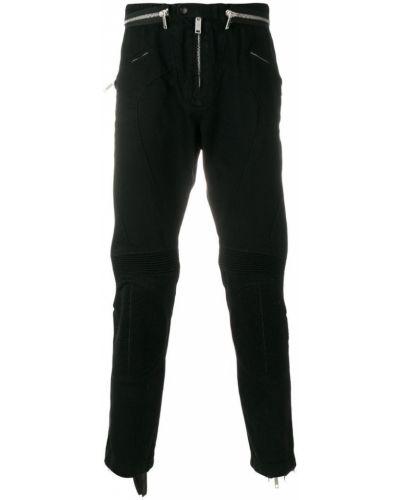 Спортивные брюки черные на молнии Unravel Project
