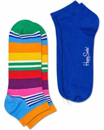Красные колготки с узором Happy Socks