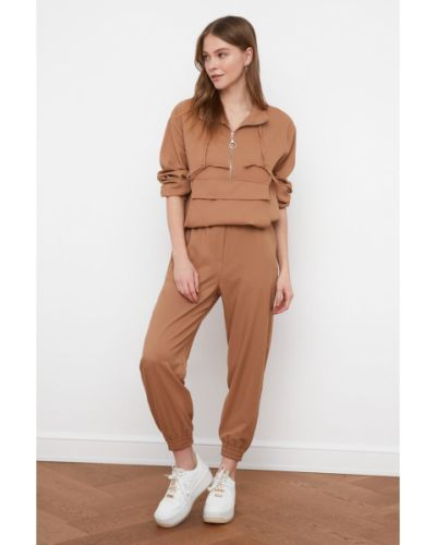 Spodnie z wiskozy Trendyol
