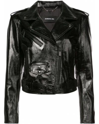Черная куртка байкерская на молнии Barbara Bui