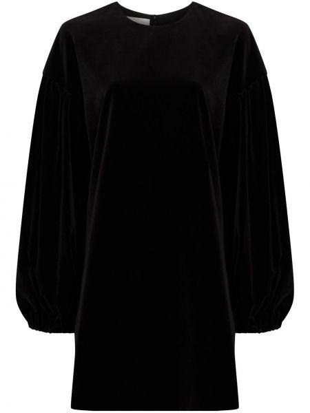 Бархатное платье мини - черное Valentino