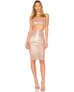Платье мини с декольте бандо By The Way.
