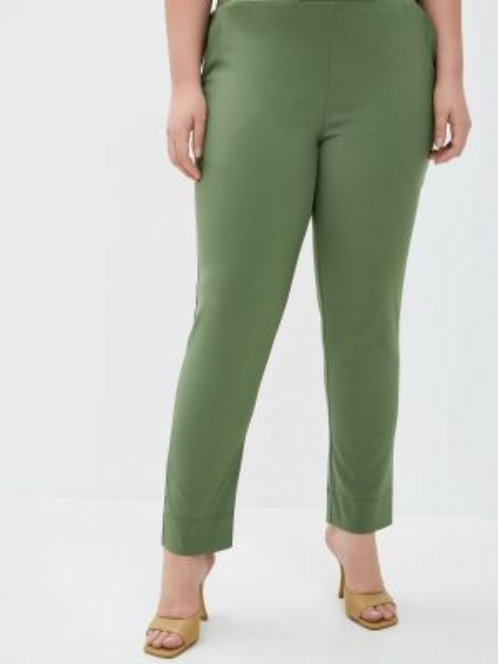 Зеленые брюки с воротником Le Monique