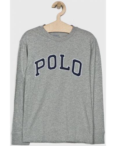 T-shirt z aplikacjami szary Polo Ralph Lauren