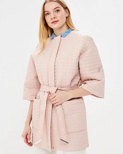 Утепленная куртка весенняя розовая Odri Mio