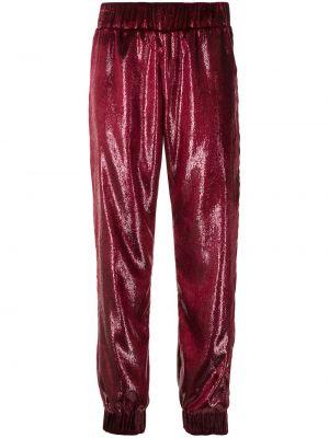 Красные бархатные спортивные брюки эластичные Haney
