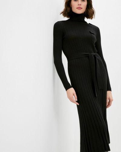 Повседневное черное повседневное платье Max&co