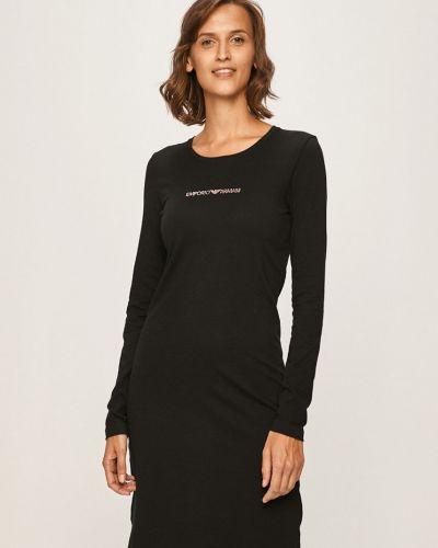Koszula z długim rękawem długo czarny Emporio Armani