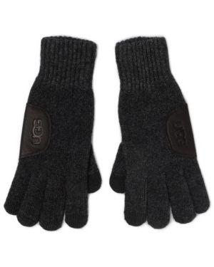 Szare rękawiczki skorzane Ugg
