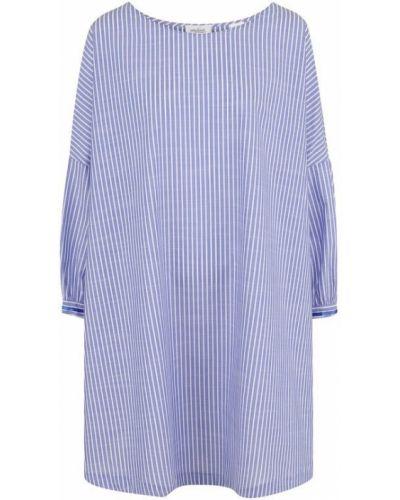 Платье мини с вырезом свободного кроя хлопковое Van Laack