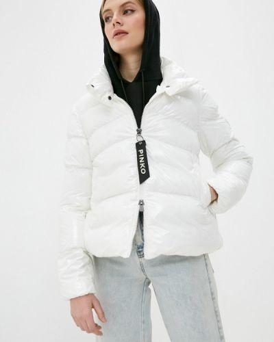 Теплая белая куртка Pinko