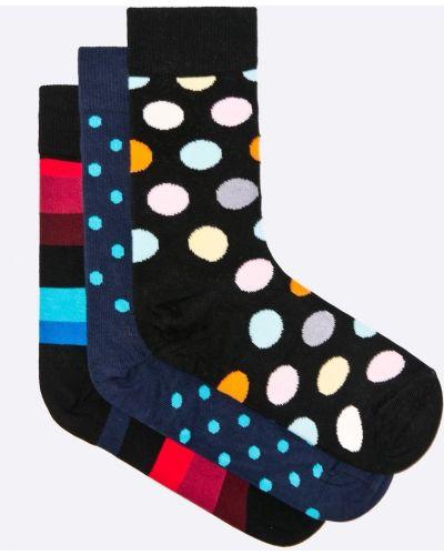 Носки с узором черные Happy Socks