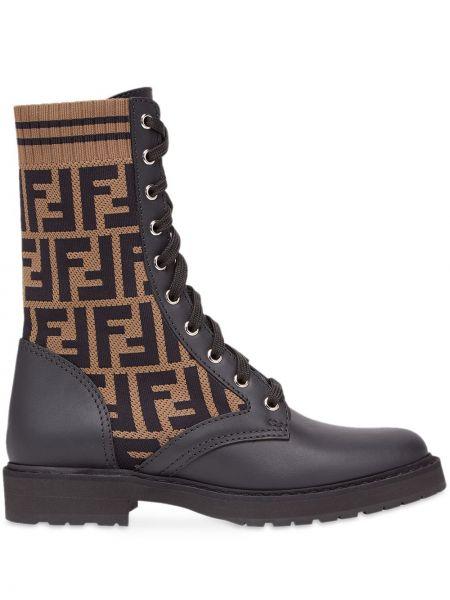 Buty czarne ażurowy Fendi