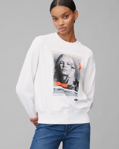 Bluza z nadrukiem z printem - biała Marc O Polo
