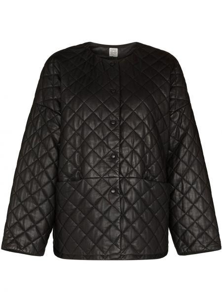 Черная стеганая куртка Toteme
