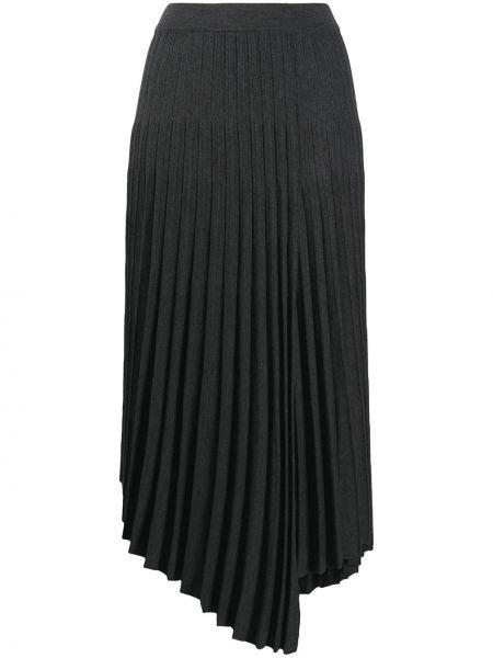 Шерстяная с завышенной талией плиссированная юбка Mrz