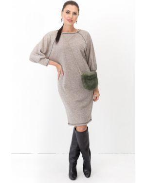 Платье с поясом летучая мышь платье-сарафан Taiga