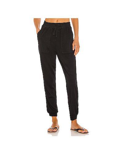 Шелковые черные брюки с карманами на шнурках Splendid