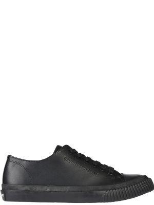 Кеды черные кожаный Calvin Klein Jeans